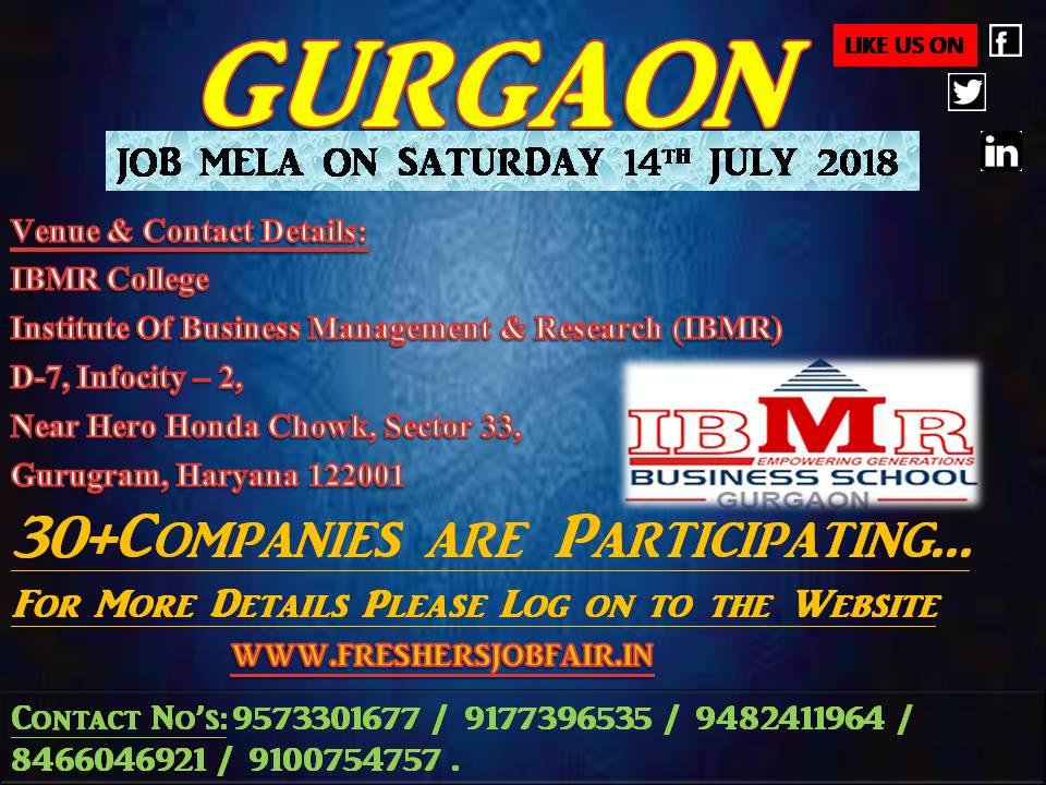 Job mela IBMR Gurgaon